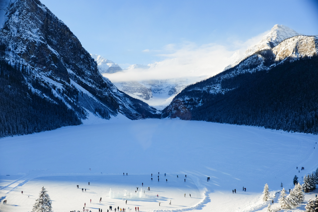 Startwithblack Postcards from Lake Louise in Winter 1